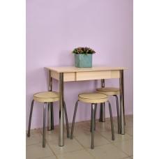Стол обеденный с ящиком, ноги хром