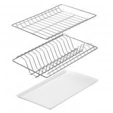 Сушилка для посуды двухуровневая белая в корпус 500, 600, 800 мм