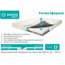 Матрас ортопедический Askona Balance Forma 800*1900\2000 мм