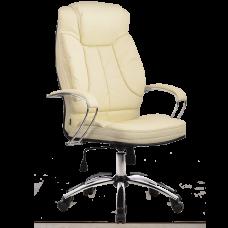 """Кресло для руководителя """"LK-12 CH"""" хромированное пятилучье, износостойкий перфорированный материал NewLeather из натуральной кожи"""